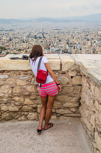 A word on composition.  Here we are in Athens, overlooking the city from the Acropolis.  One of the most historic places on earth but your eye is drawn to the brightest thing in the picture.