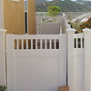 """Privacy 12"""" Gate with Picket Top"""
