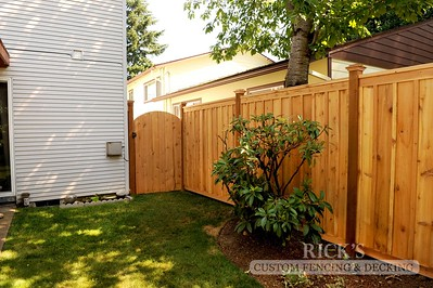 Cedar Board & Batten Picture Frame Fencing