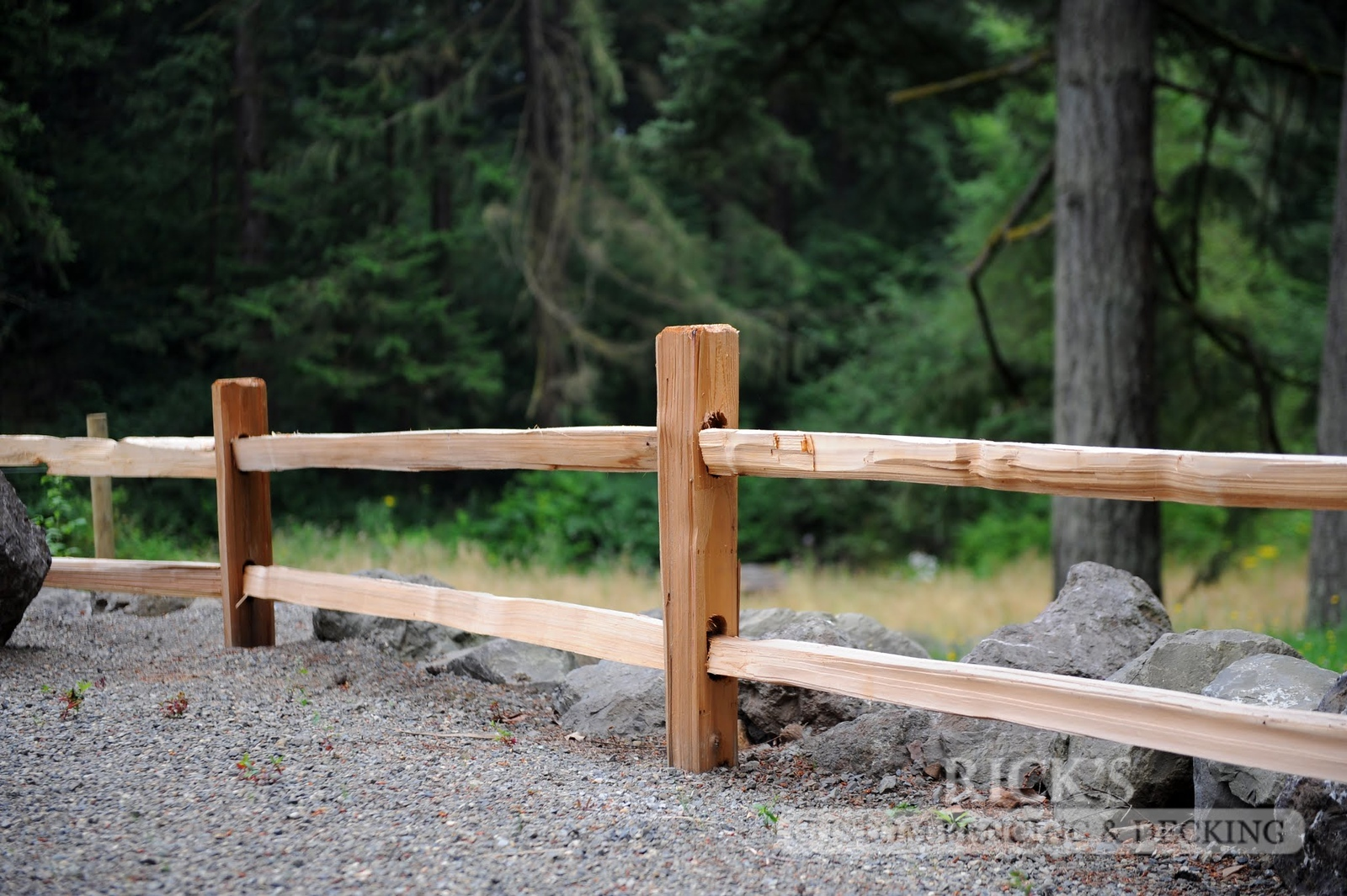 Cedar Split Rail Fencing