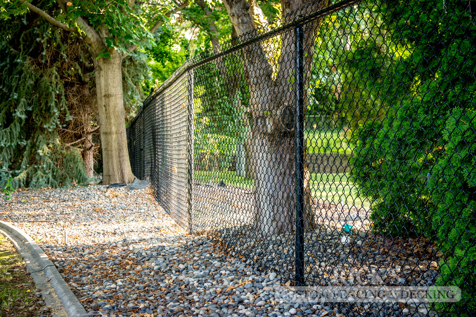 4107 - Black Chain Link Fencing