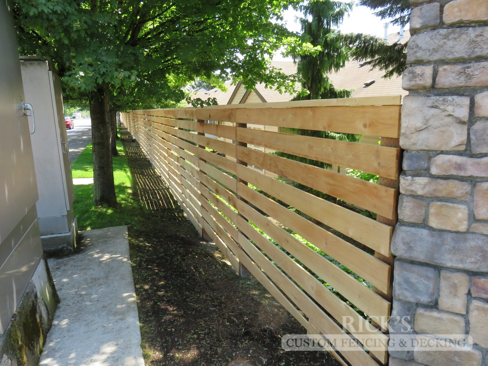 2410 - Custom Cedar Horizontal Fencing