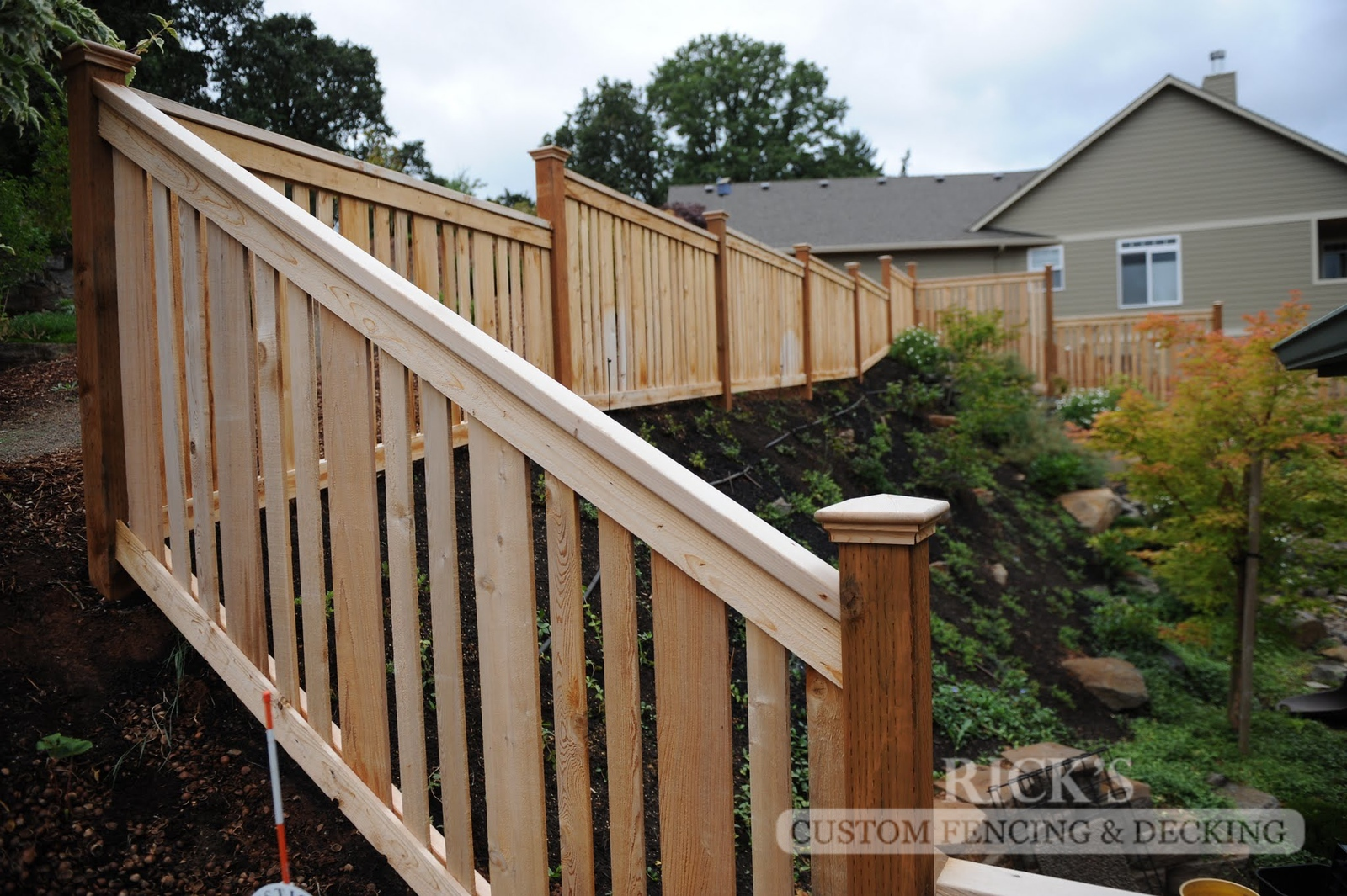 2415 - Custom Cedar Picture Frame Fencing