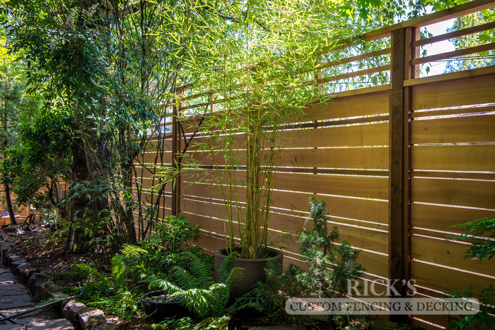 2408 - Custom Cedar Horizontal Fencing