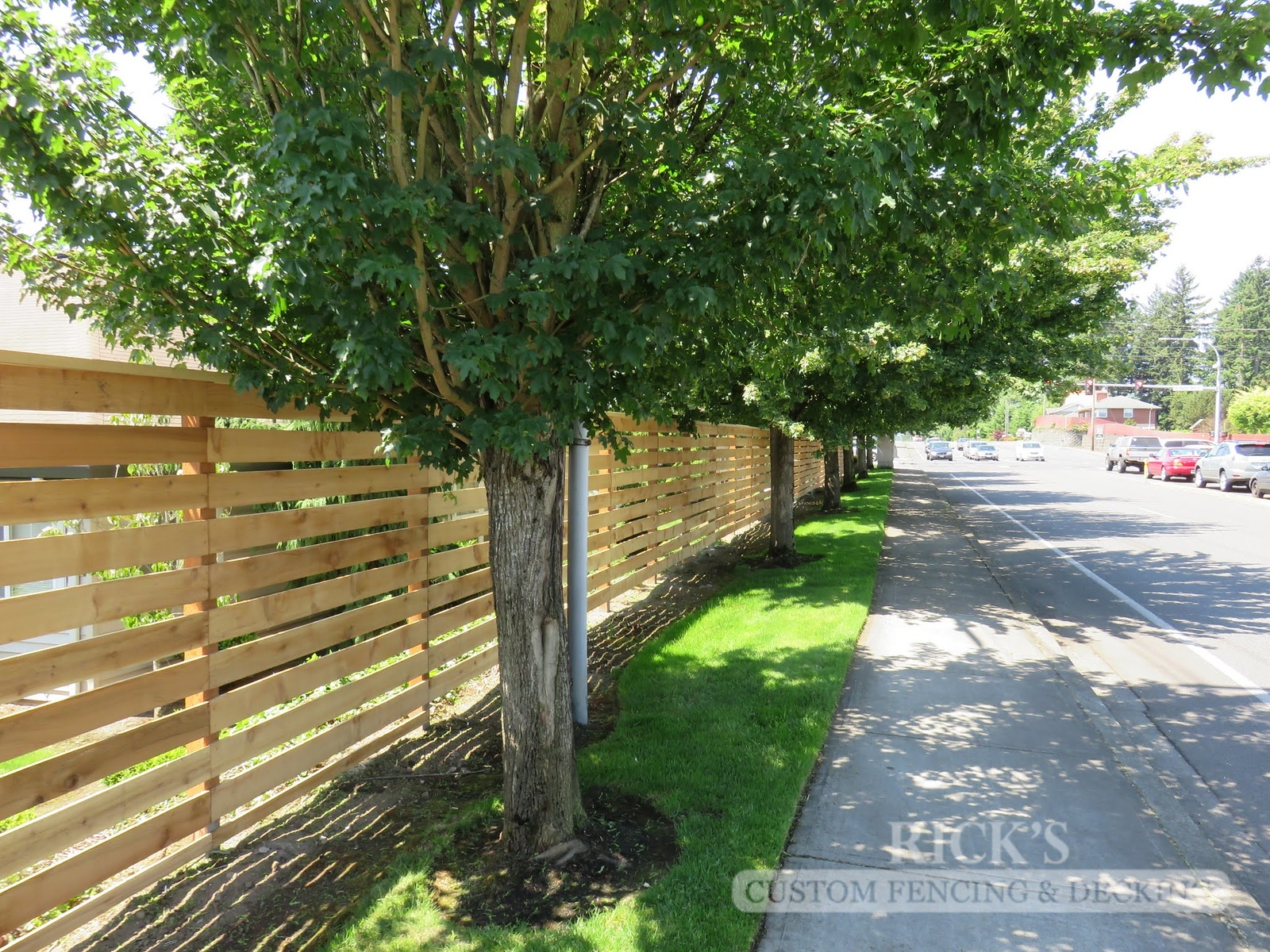 2411 - Custom Cedar Horizontal Fencing