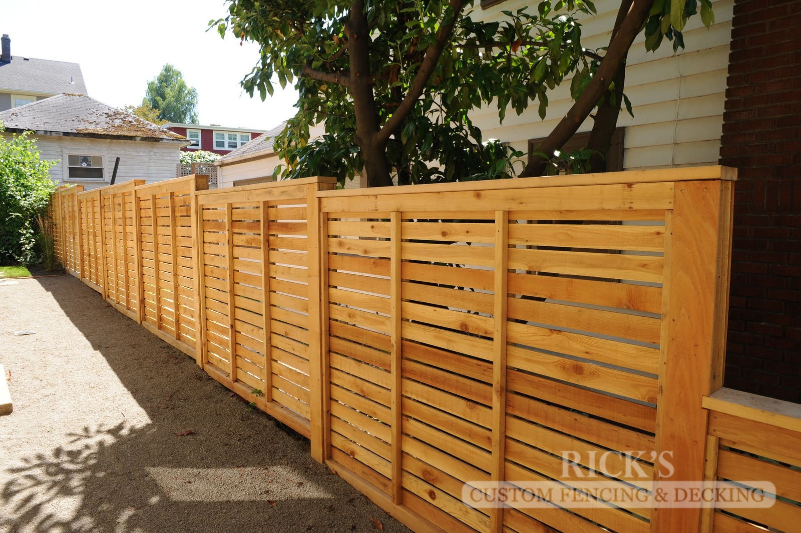 2430 - Custom Cedar Horizontal Fencing