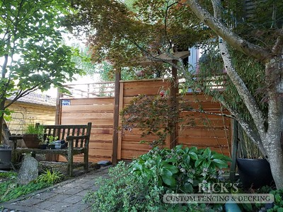 Custom Cedar Horizontal Fencing