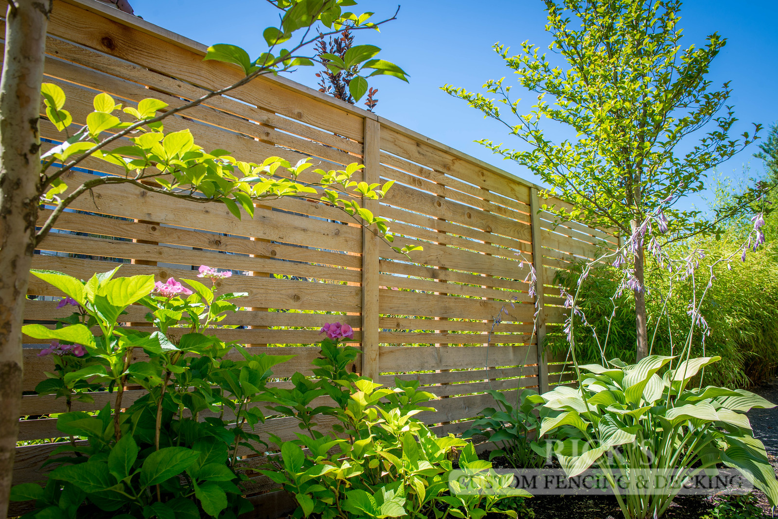 2402 - Custom Cedar Horizontal Fencing