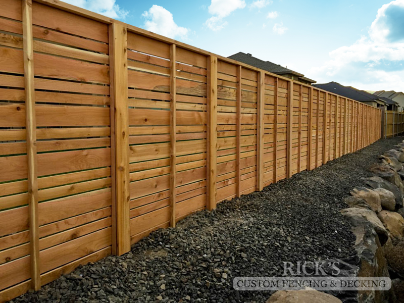 2434 - Custom Cedar Horizontal Fencing