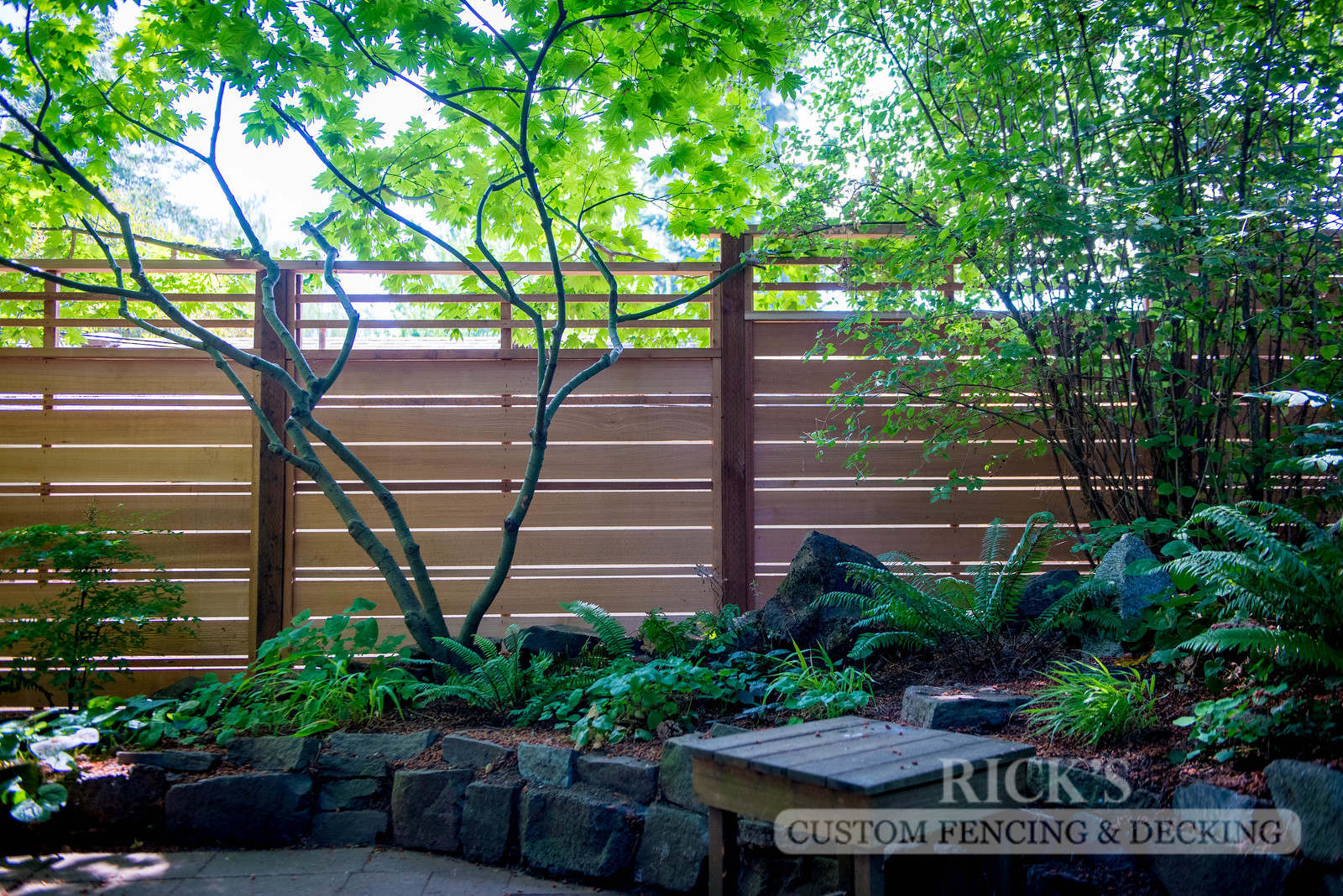 2406 - Custom Cedar Horizontal Fencing