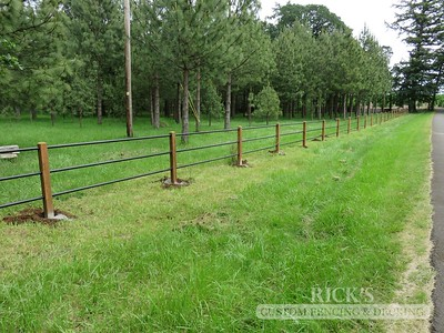 4302 - Pipe Rail Fencing