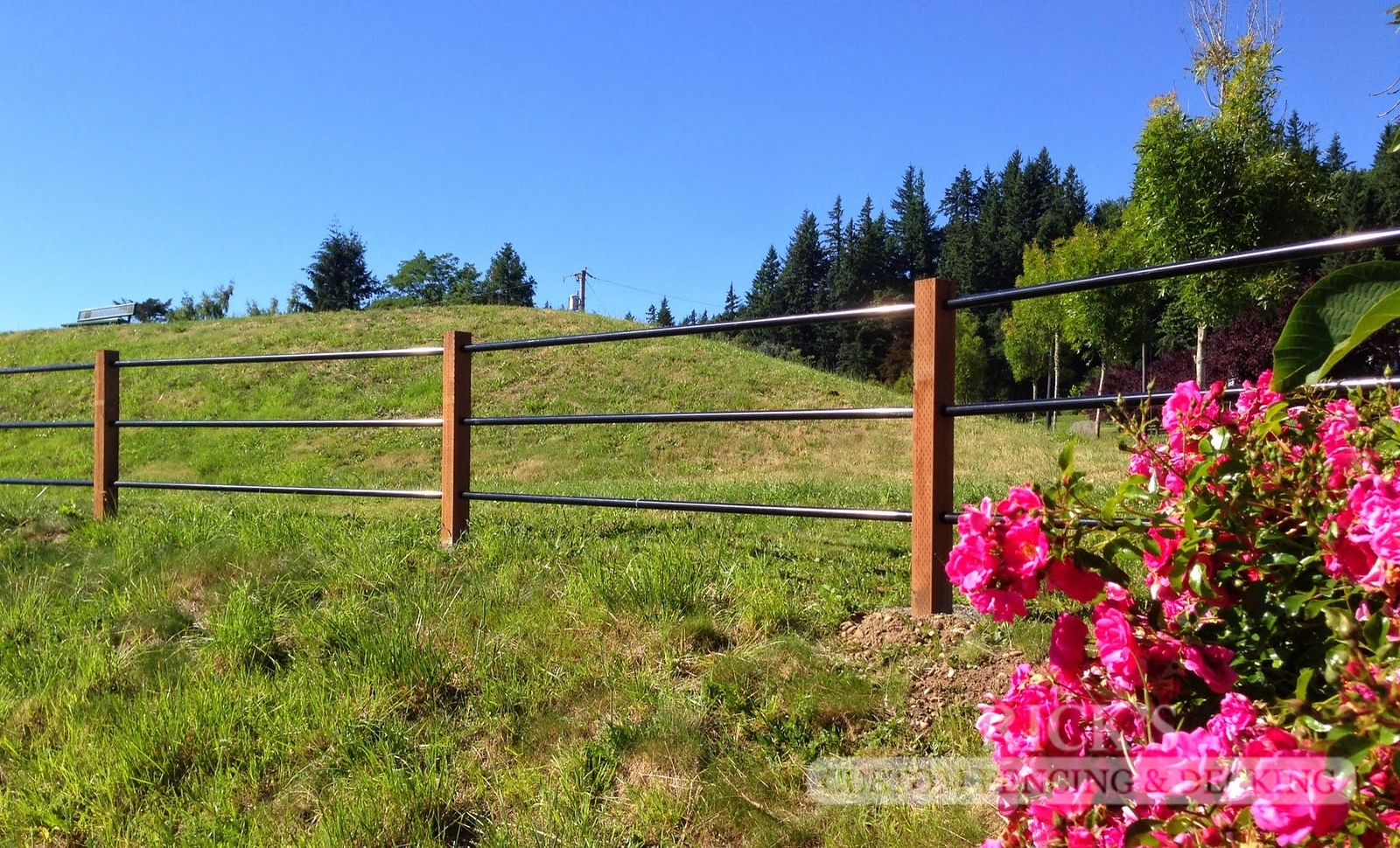 4306 - Pipe Rail Fencing