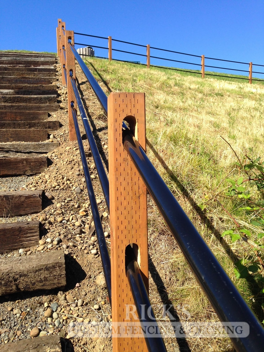 4307 - Pipe Rail Fencing