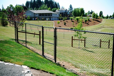4131 - Black Chain Link Fencing