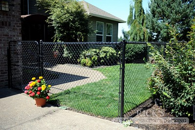 4133 - Black Chain Link Fencing