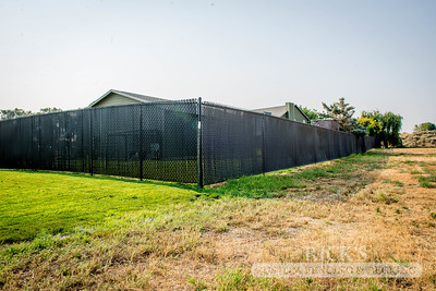 4111 - Black Chain Link Fencing with Black Slats
