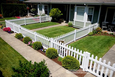 White Vinyl Picket Fencing