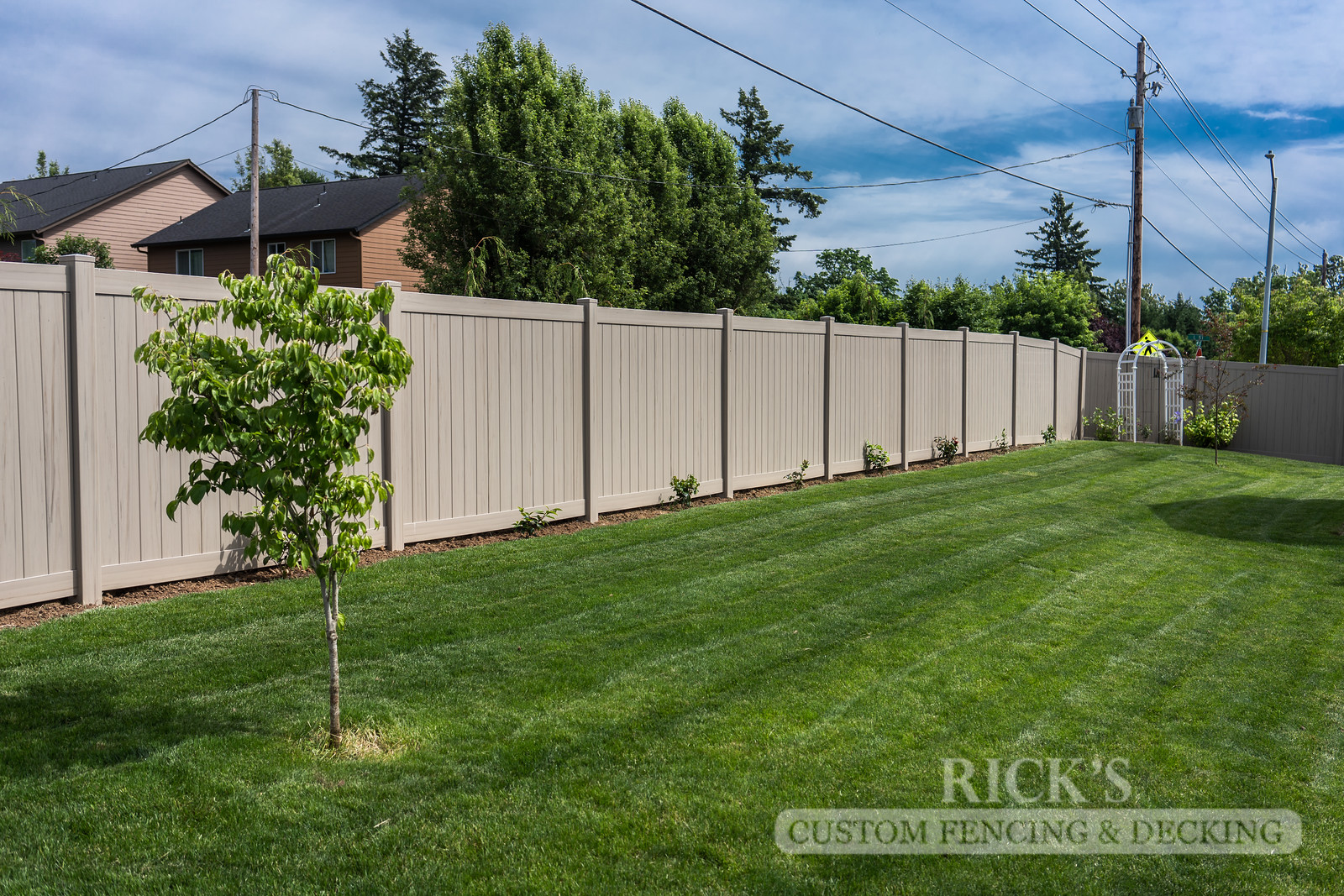 3045 - Driftwood Vinyl Privacy Fencing