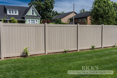 3046 - Driftwood Vinyl Privacy Fencing