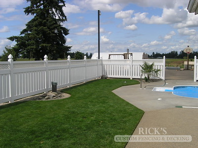 Vinyl Semi-Privacy Fencing