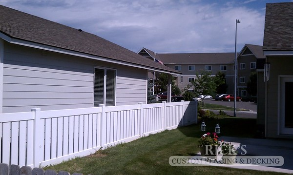 White Vinyl Semi-Privacy Fencing