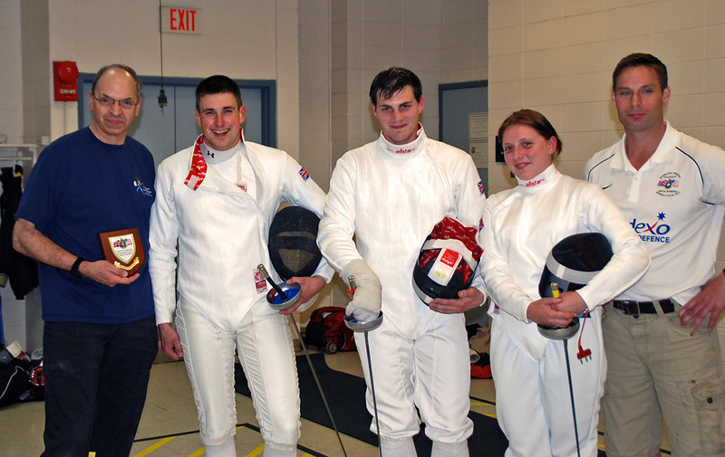 Fencing Master Raymond Finkleman and the members of the Royal Marines Sports Tour 2012.