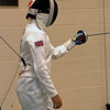 Alyson Mills competing at the Chevy Chase Fencing Club.