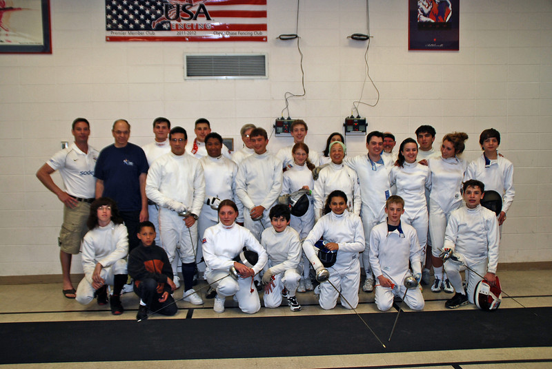 The British Royal Marines and the Chevy Chase Fencing Club.