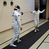 Alyson Mills competes with Chevy Chase fencer India Bhalla-Ladd.