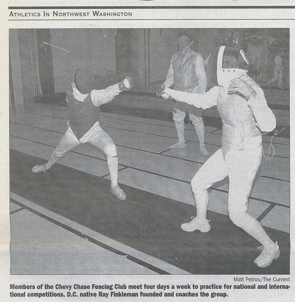 Photograph in the Northwest Current newspaper published on August 10, 2005 (page 3 of 3).