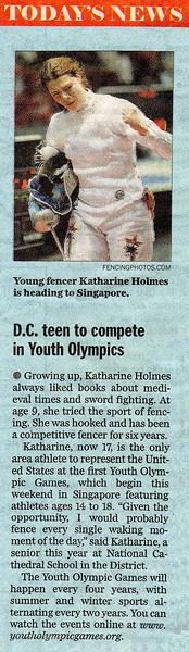 The Washington Post, KidsPost, August 12, 2010