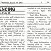 Article in the Northwest Current newspaper published on August 10, 2005 (page 2 of 3).