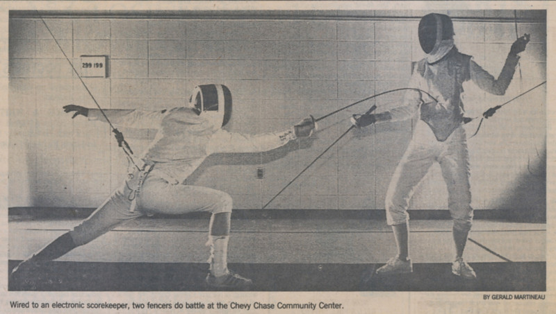 The photo which accompanied the article in the Weekend Section of the Washington Post, Friday, December 22, 1989.  That's Jean Main (now Jean Finkleman) on the right.