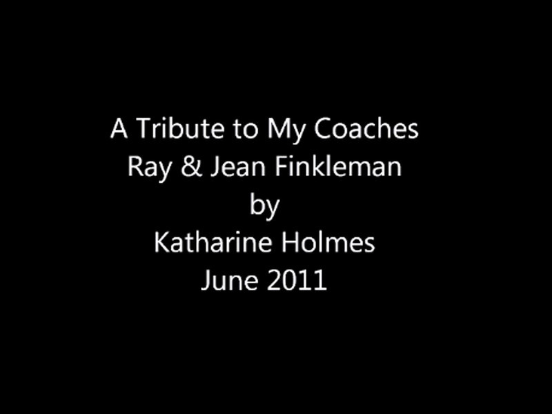 Katharine Holmes produced this Powerpoint presentation and gave it to her coaches before her high school graduation, June 2011.