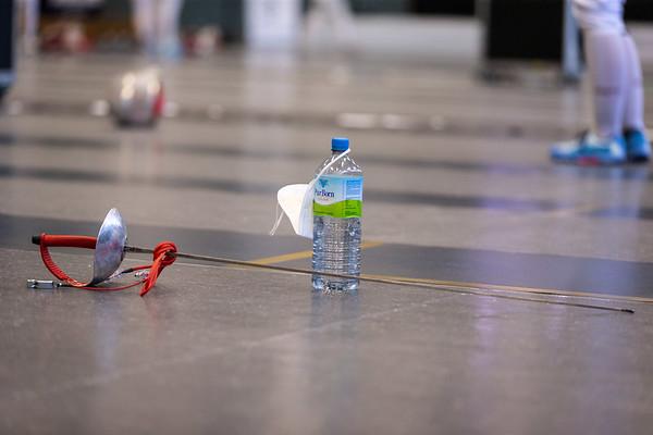 """Bonn, Deutschland - February 21st, 2021; Das neue Turnierformat """"German Masters Damensäbel"""" findet zum ersten Mal in der Olympiastützpunkt Bonn statt. In photo:   Photo by: Jan von Uxkull-Gyllenband"""