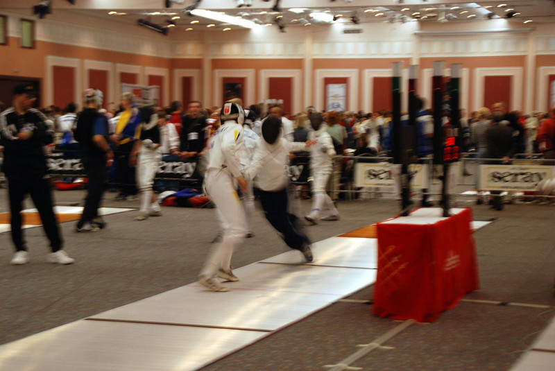 James Kaull warm-up before Cadet Men's Epee Prelims.