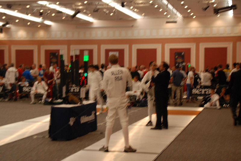 James Kaull vs a South African fencer.