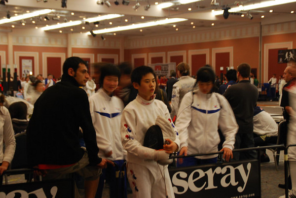 Fencers from Japan.