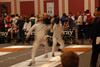 James Kaull ripostes against the fencer from Kuwait.
