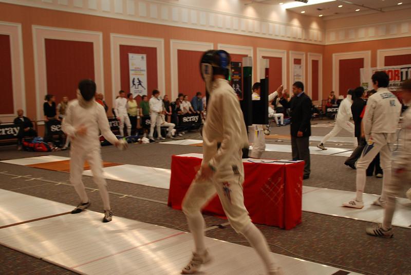 Josh Dolezal fencing in the prelims.