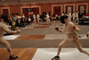 James Kaull fencing a prelim bout.