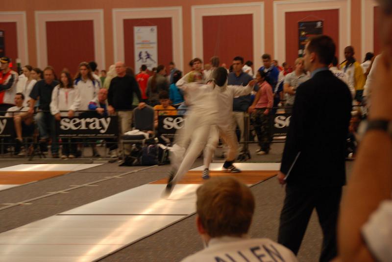 James scores again against the fencer's fleche.