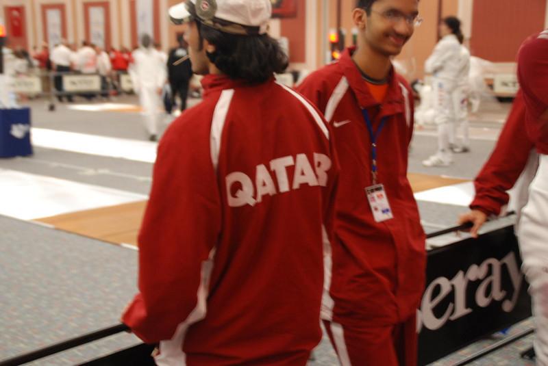 Fencers from Qatar.