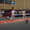 Katharine prepares to fence against Patrizia Piovesan Silva from Venezuela in the round of 32.