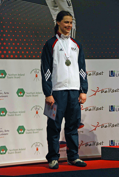 Katharine Holmes, Silver Medal, Women's Epee, 2009 Cadet World Championships.