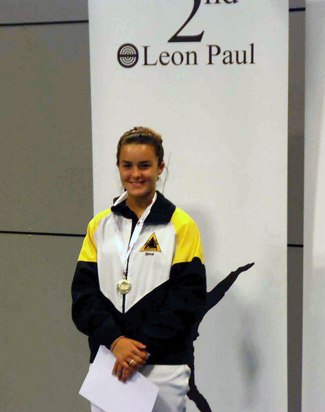Nina Moiseiwitsch, silver medal, in the 2010 Cadet Women's Epee British National Championships.