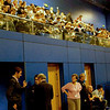The crowd of spectators on the balcony overlooking the gold medal bout.