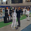 Nina Moiseiwitsch (left) in the pool round of the Junior Women's Epee British National Championships.