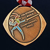 Bettie Graham's Bronze World Championship Medal (front).