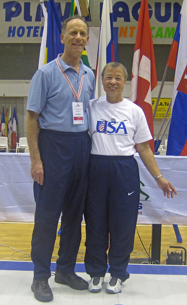 Chevy Chase Fencing Club members of the US World Championship Team, Bettie Graham and Mark Henry.
